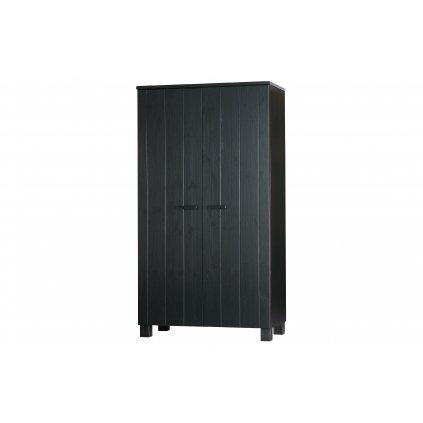 27758 1 dennis wardrobe black fsc