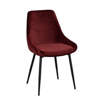 110389 b Sierra stol, röd sammet R B