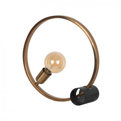 Kovová stolní lampa RING zlatá