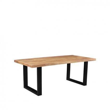 Eettafel Zeth Rough Mangohout Zwart Metaal 180x90 cm