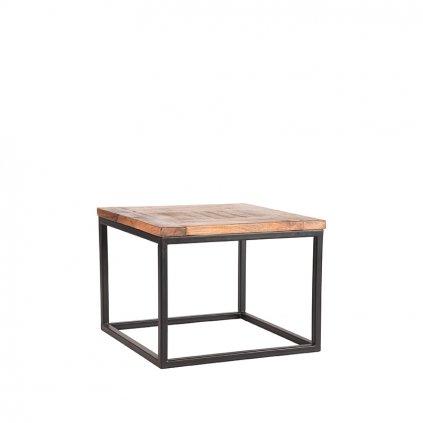 bijzettafel box rough mangohout 60x60x45 cm perspectief