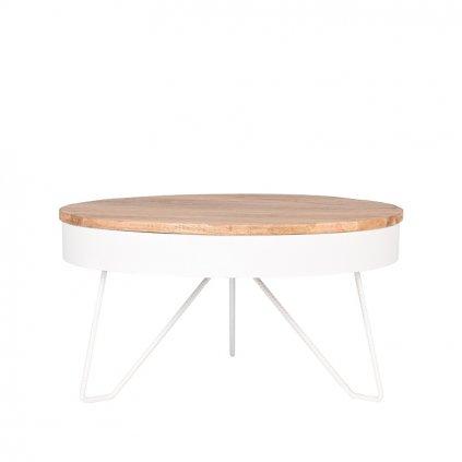 salontafel saran wit metaal 80x80x43 cm voorkant