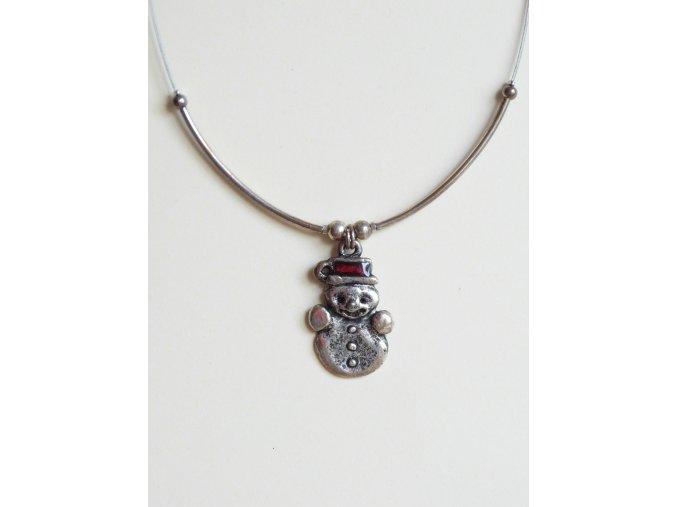Postříbřený náhrdelník Orsiékszer - sněhulák
