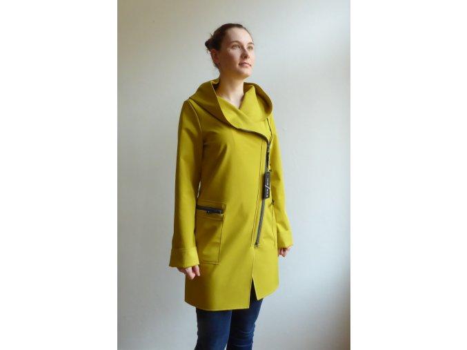 Kabát Softshellový Ille-Olla Fioda hořčičný žlutý