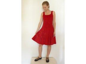 """Šaty manšestrové krátké Siptár """"Zsóka"""" červené"""