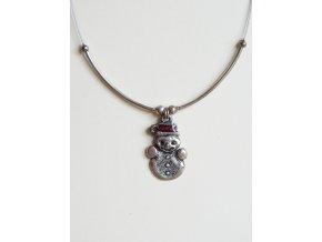 Postříbřený náhrdelník - sněhulák