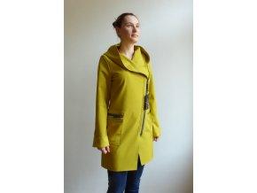 Kabát Softshellový Fioda hořčičný žlutý