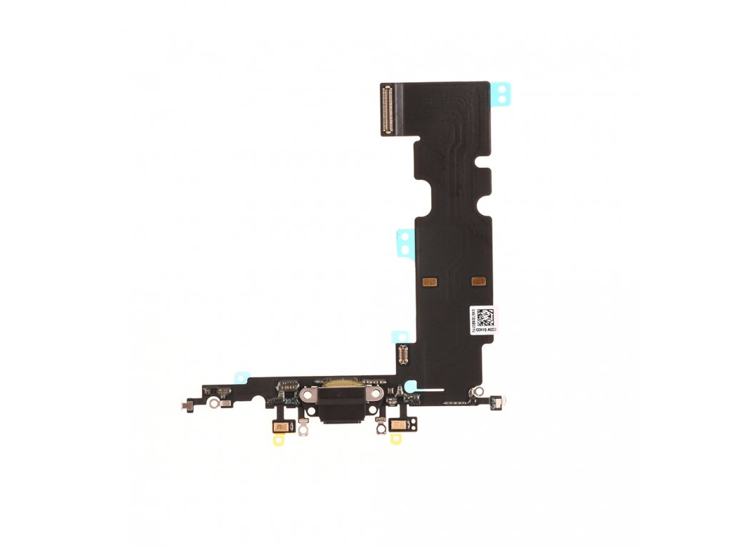 for iphone 8 plus charging port flex cable black (1)