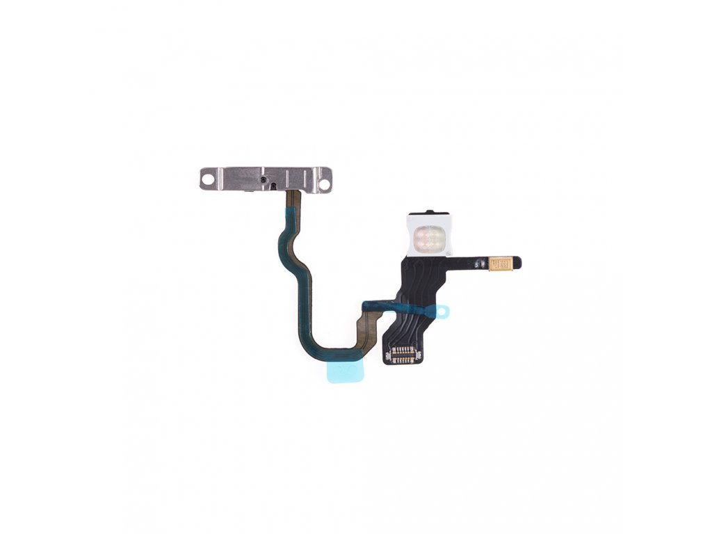 for apple iphone x power switch flex cable with metal plate aa (1)