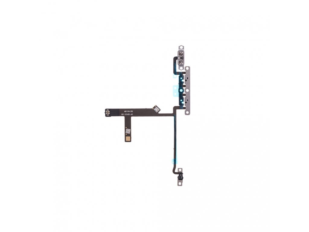 for apple iphone xs volume flex cable with metal plate aa (1)