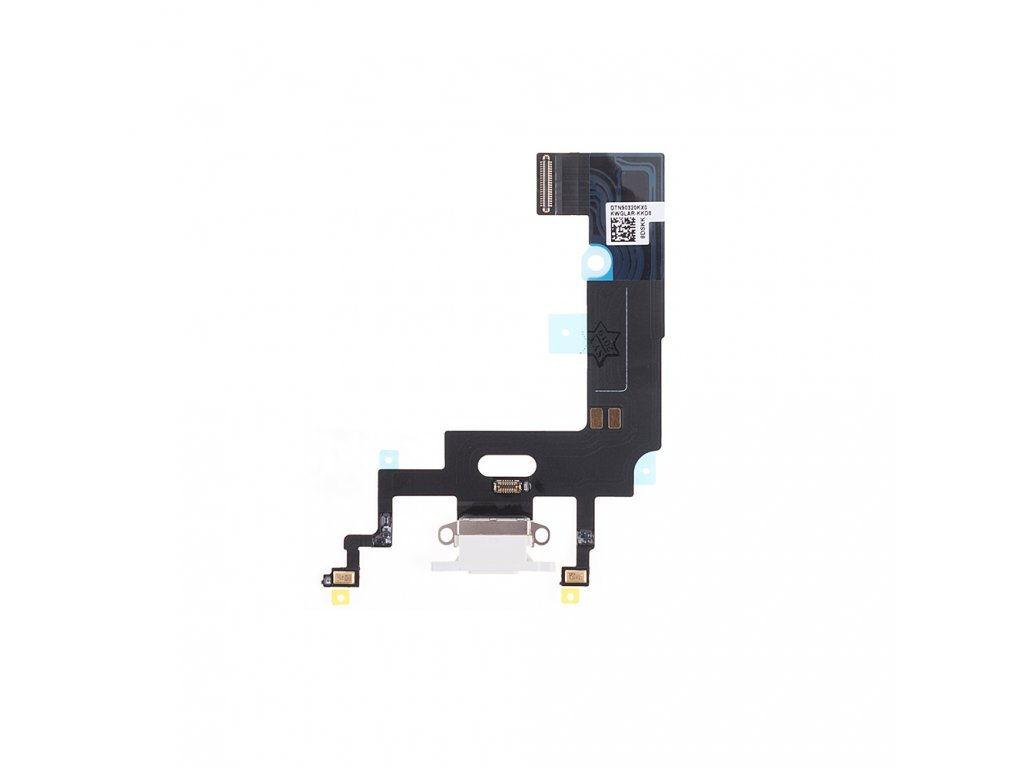 replacement for apple iphone xr charging port flex cable white oem new (1)