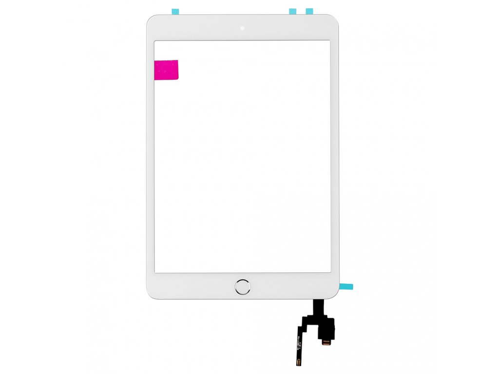 replacement for PA mini3 touch screen digitizer with ic connector and home button assembly white1