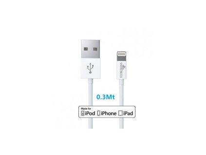 Datový kabel : Lighting : 0,3 m : Bilý