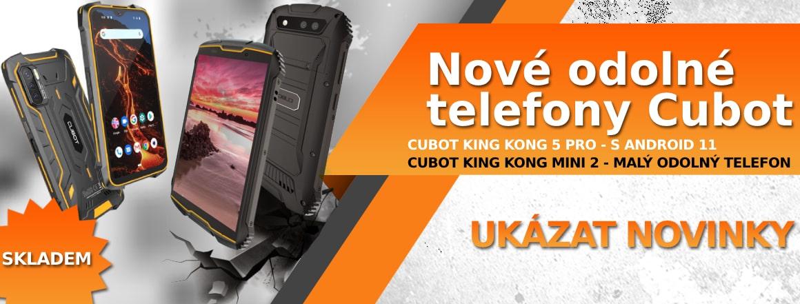 Nové odolné a mobilní telefony CUBOT skladem