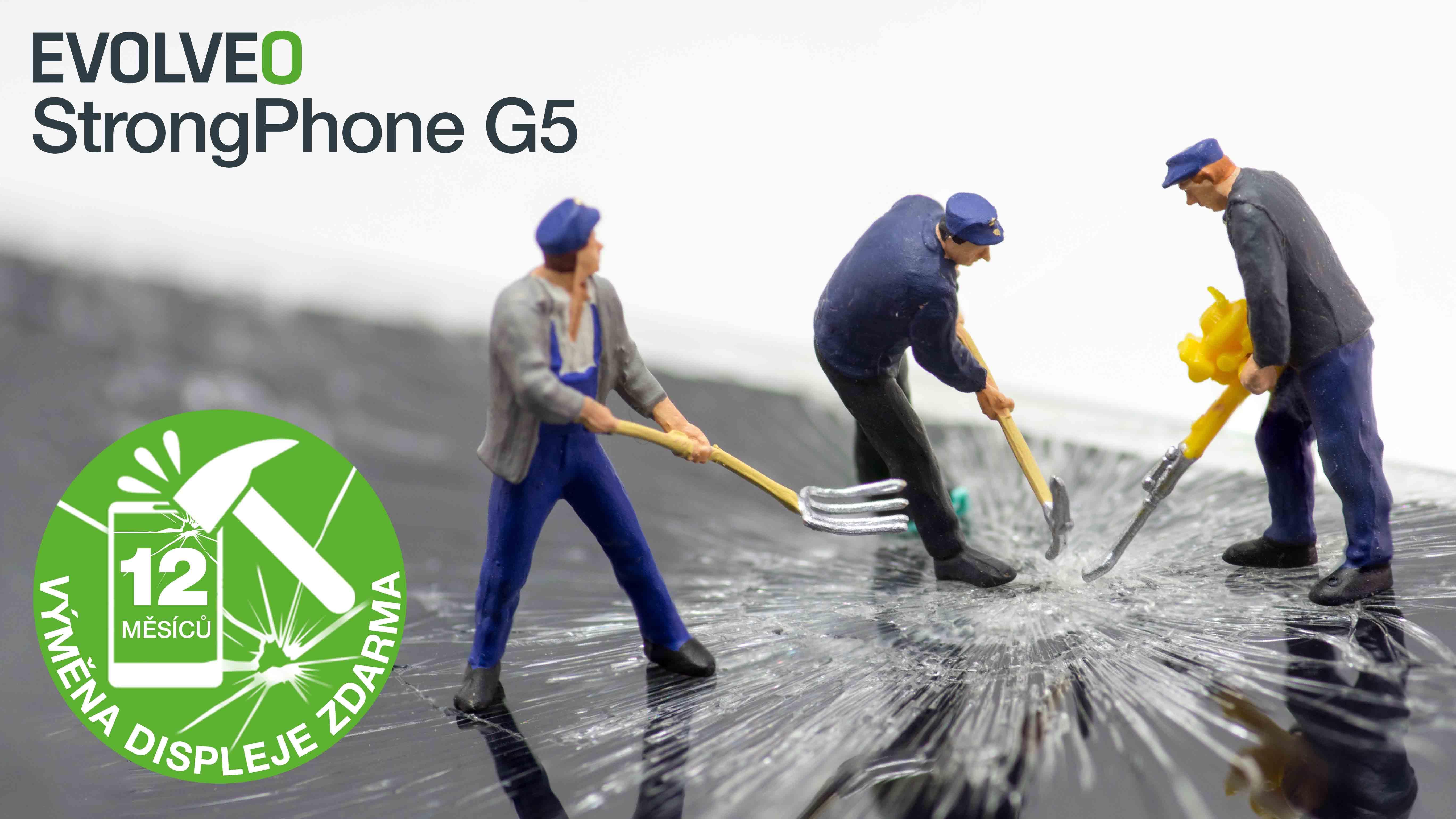 Výměna displeje u odolného telefonu EVOLVEO StrongPhone G5  zdarma