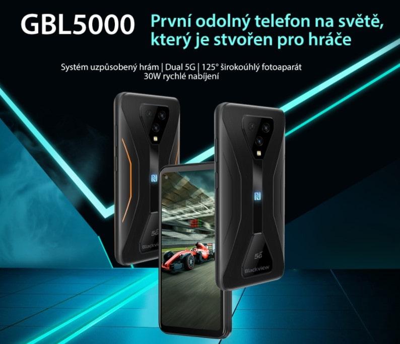 Nový 5G odolný telefon iGET Blackview GBL5000 SKLADEM