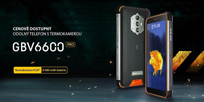 Nový odolný telefon s termokamerou iGET Blackview GBV6600 Pro SKLADEM