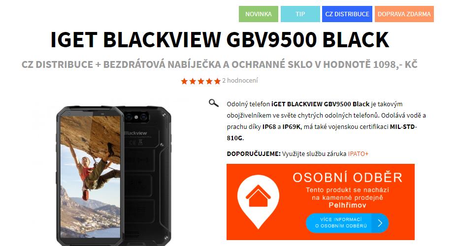 Dárky zdarma k iGET Blackview GBV9500