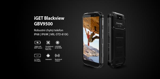 Nový odolný telefon iGET Blackview GBV9500 je skladem