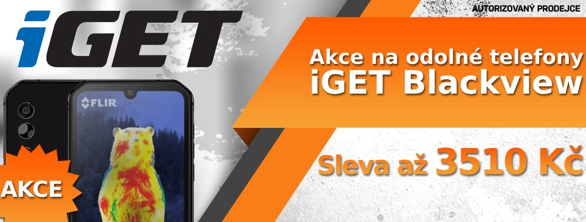 Akce na odolné telefony iGET Blackview do vyprodání zásob