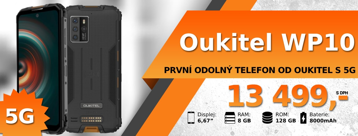 Nové odolné telefony Oukitel (WP10, WP12) SKLADEM
