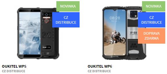 Nové odolné telefony Oukitel SKLADEM