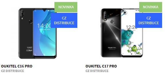Nové mobilní telefony OUKITEL SKLADEM