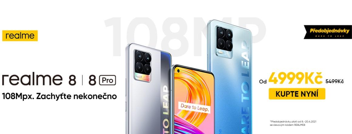 Předprodej Realme 8 a Realme 8 Pro se slevovým kódem