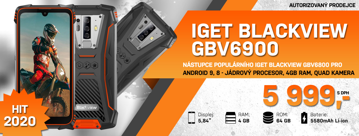 Mobilní telefon iGET Blackview GBV6900