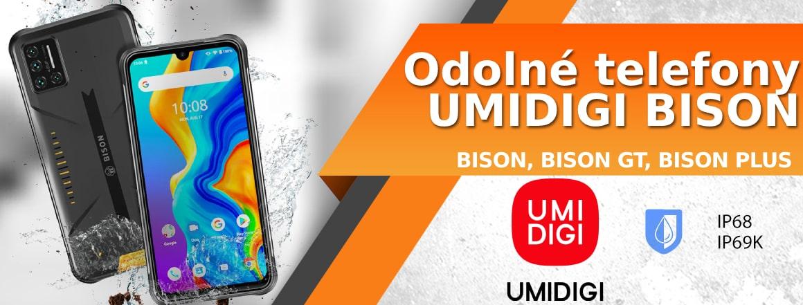 Řada odolných telefonů UMIDIGI Bison