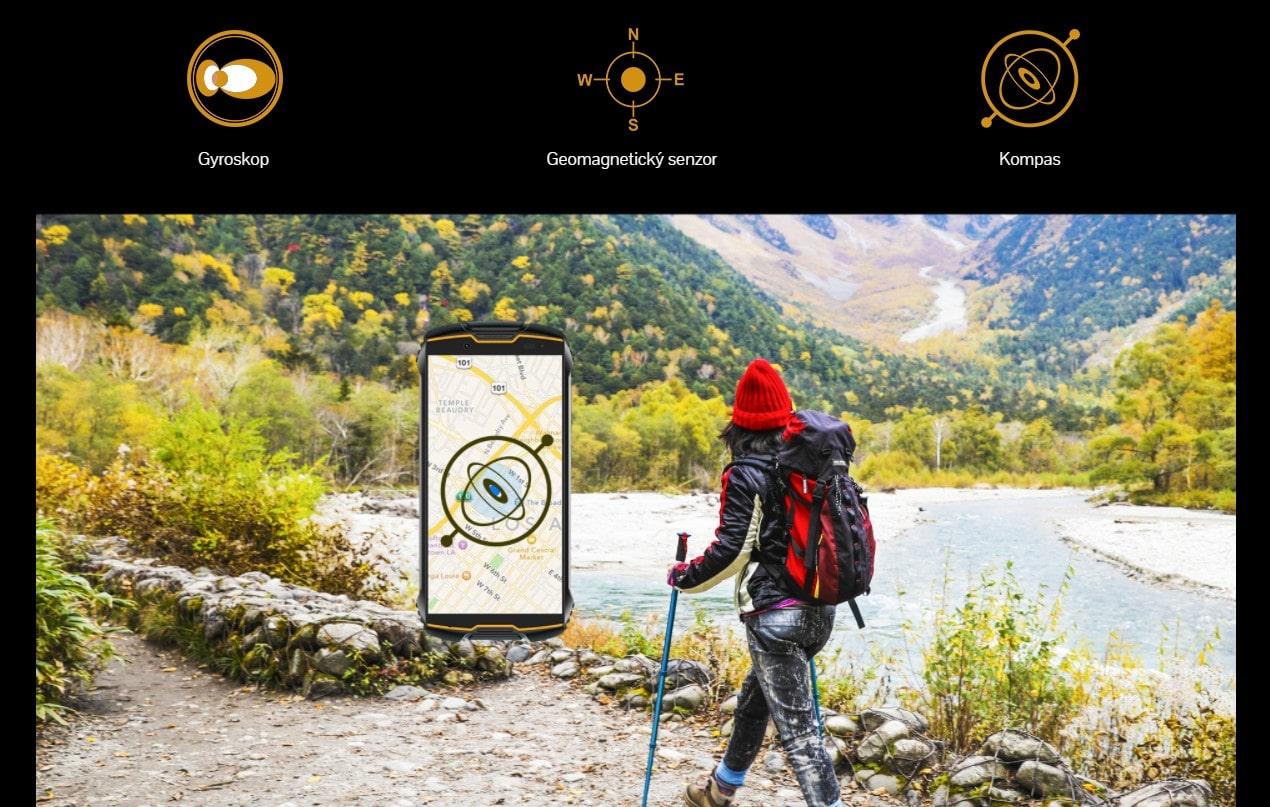 Cubot King Kong Mini 2 možnosti navigace s GPS