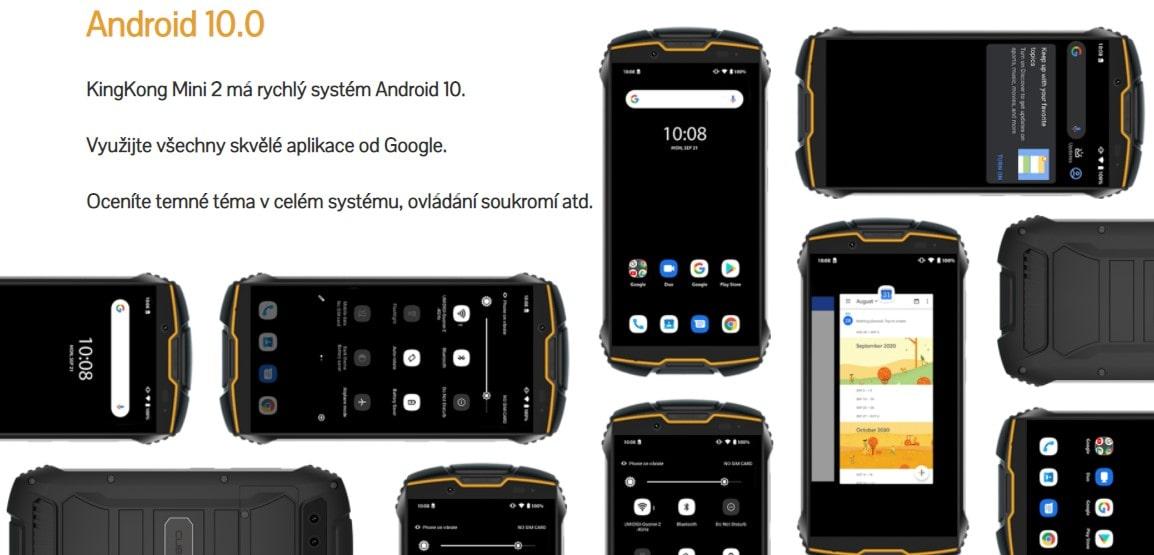 Cubot King Kong Mini 2 systém Android 10