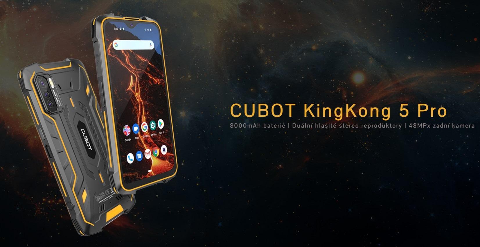 Cubot King Kong 5 Pro úvodní