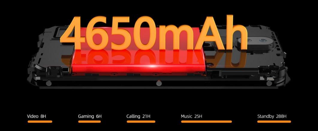 Doogee S40 Pro kapacita baterie a výdrž