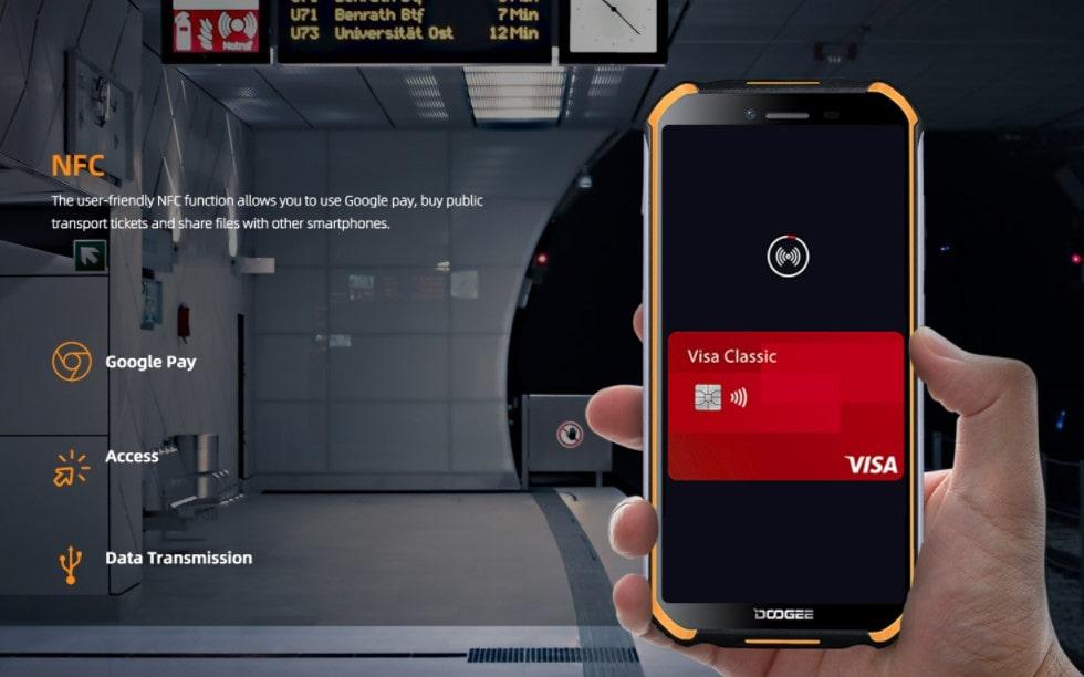 Doogee S40 Pro NFC pro bezkontaktní platby telefonem