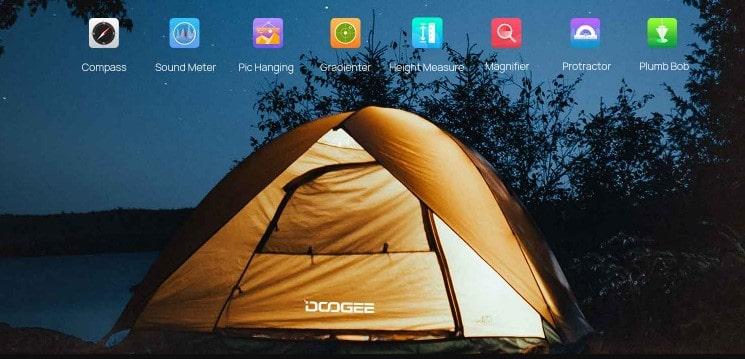 Doogee S59 Pro speciální aplikace v systému