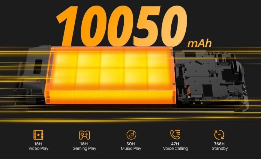 Doogee S59 Pro kapacita baterie a výdrž