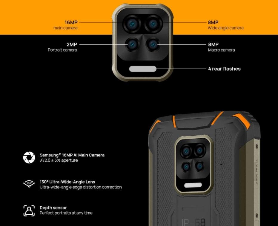 Doogee S59 Pro zadní kamera parametry