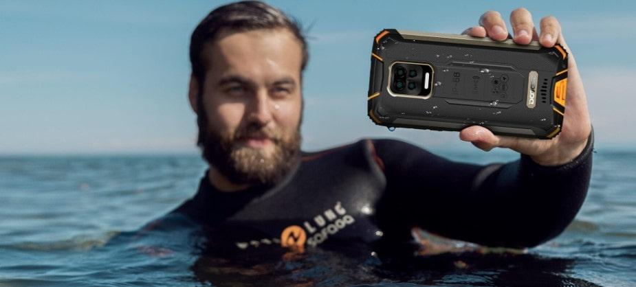 Doogee S59 Pro focení zadní kamerou ve vodě
