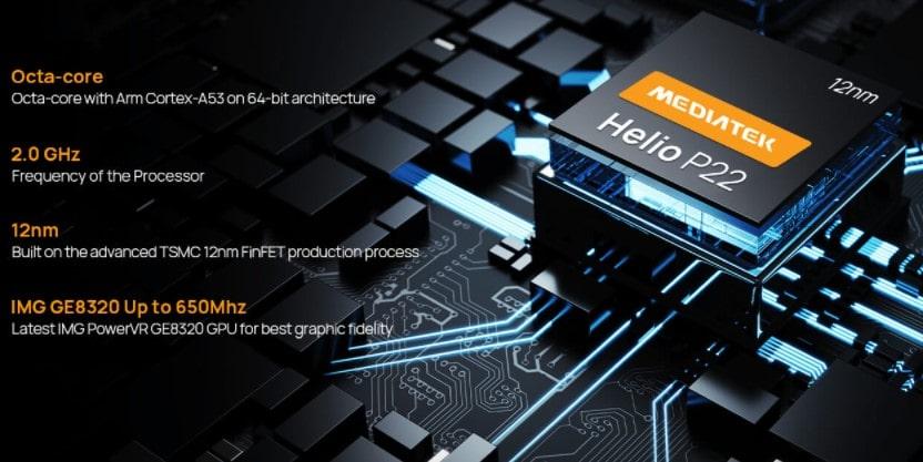 Doogee S59 Pro procesor MediaTek Helio P22