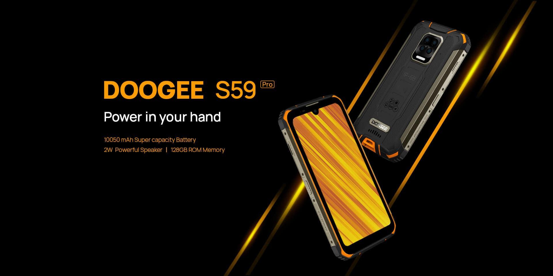 Doogee S59 Pro ukázka vzhledu
