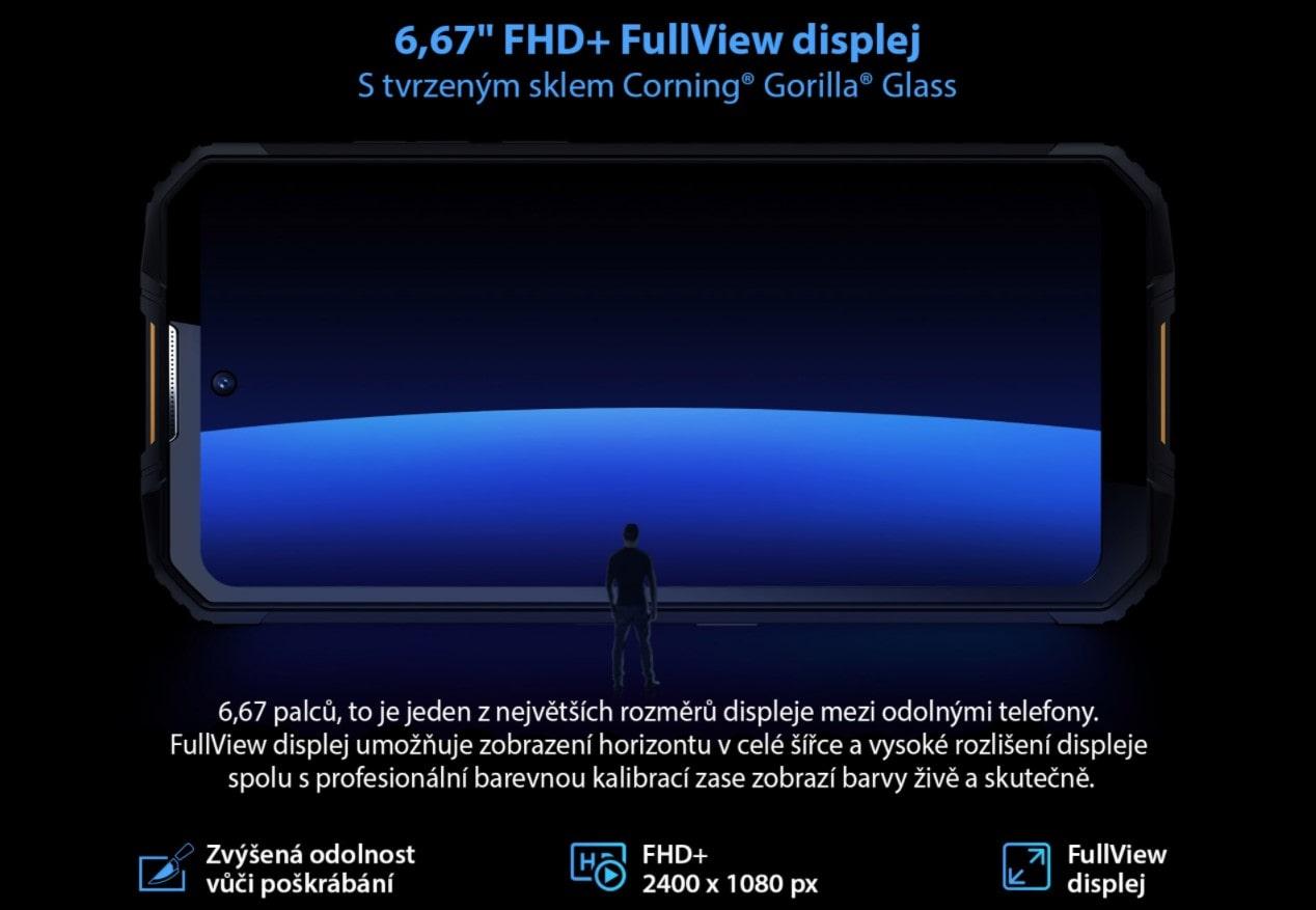 Odolný telefon Oukitel WP10 displej