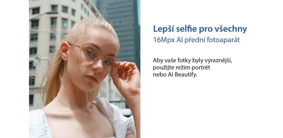 Odolný telefon Oukitel WP10 selfie fotoaparát