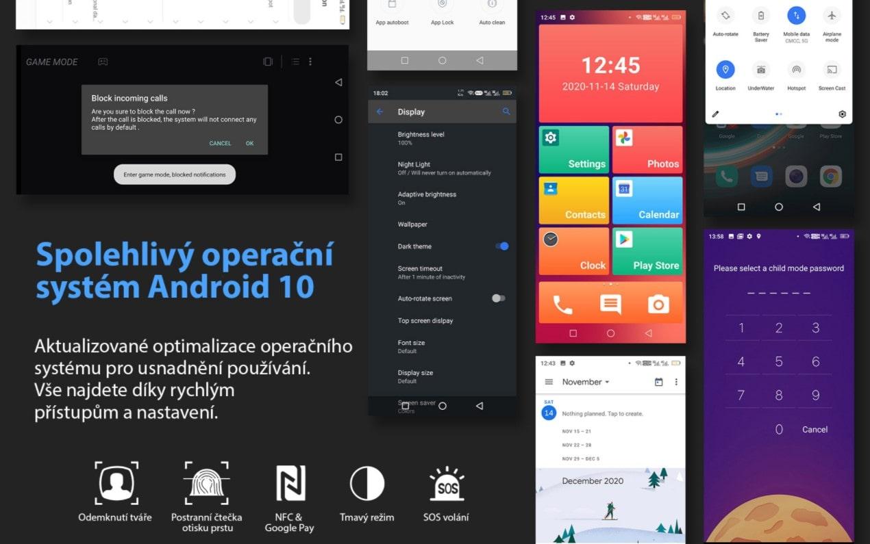 Odolný telefon Oukitel WP10 systém