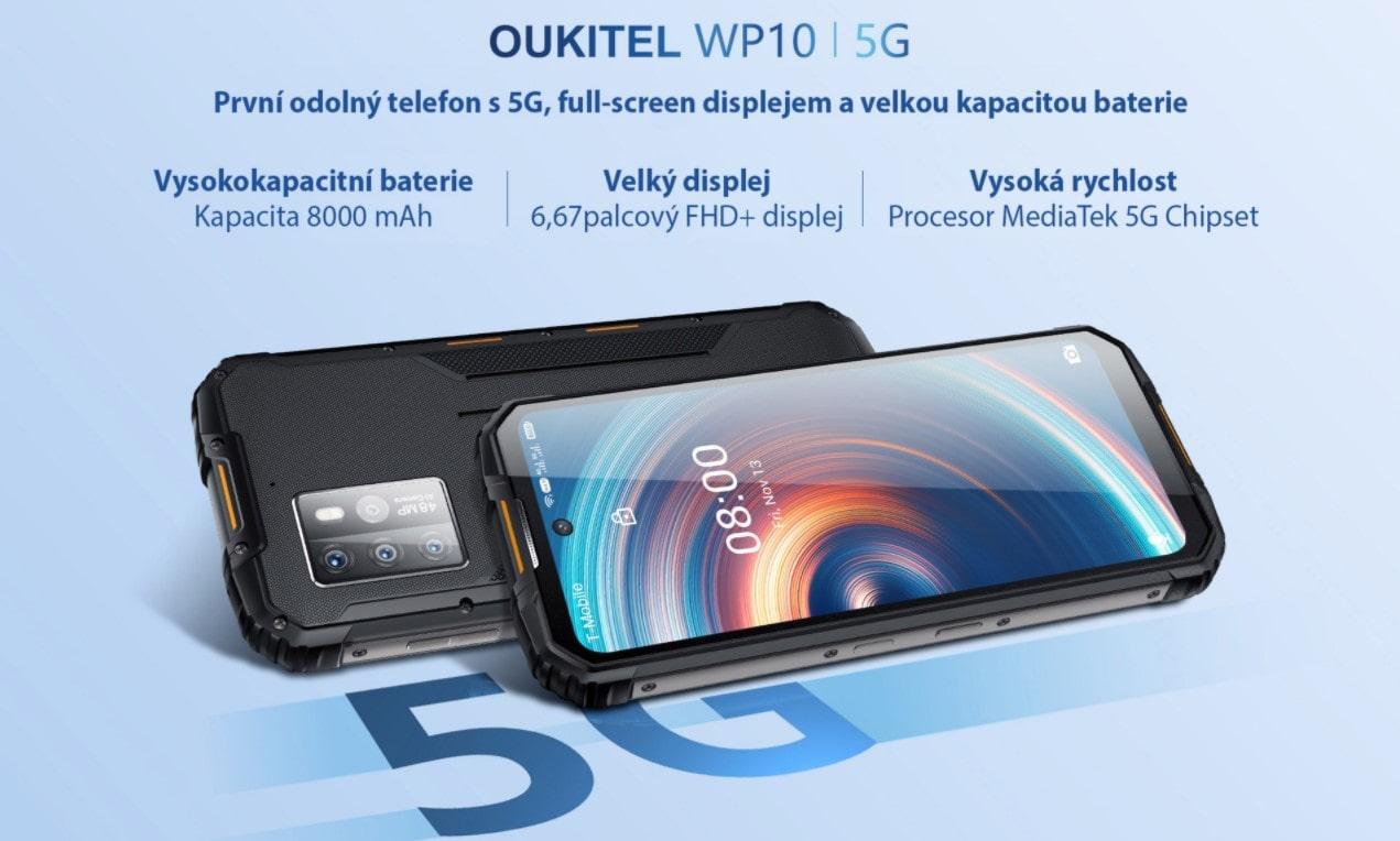 Odolný telefon Oukitel WP10 tělo