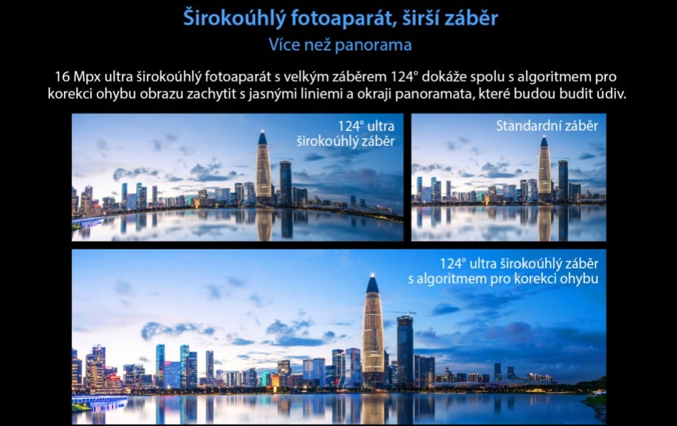 Odolný telefon Oukitel WP10 panoramatické fotografie