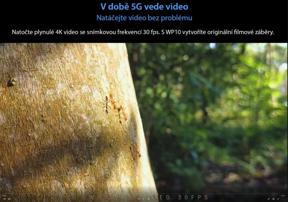 Odolný telefon Oukitel WP10 natáčení 4K videa