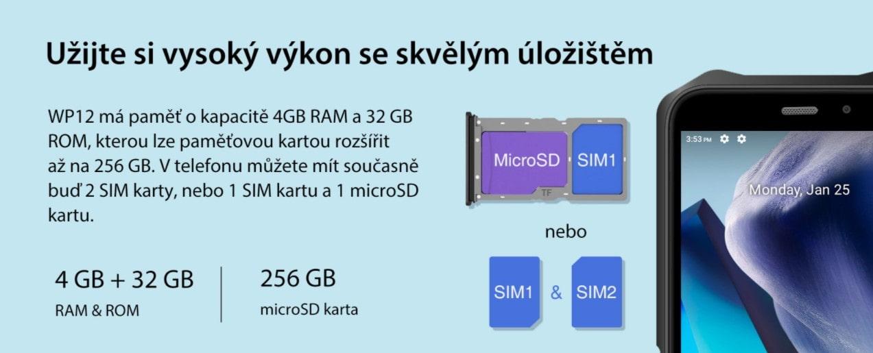 Oukitel WP12 kapacita