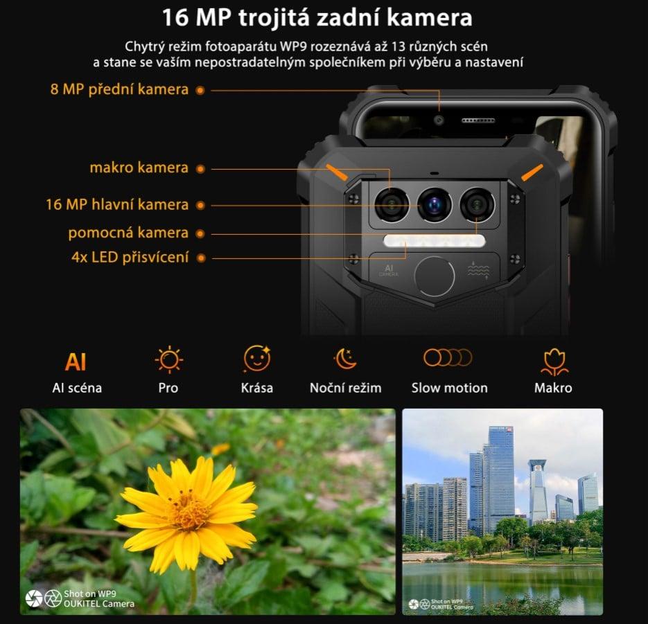 Oukitel WP9 kamera