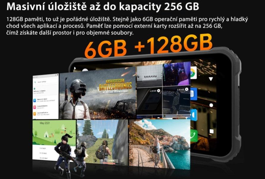 Oukitel WP9 interní paměť 128GB